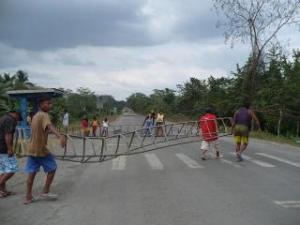 Highway blockade - barrier